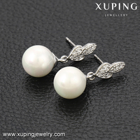 92309 xuping bridal earring clip crystal inlayed hypoallergenic new model jewellery