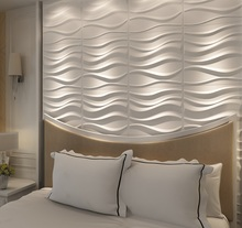 green material decorative ceiling wave board