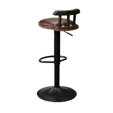Tall Industrial Style Stable Security Metal Lifting Swivel Bar Stool
