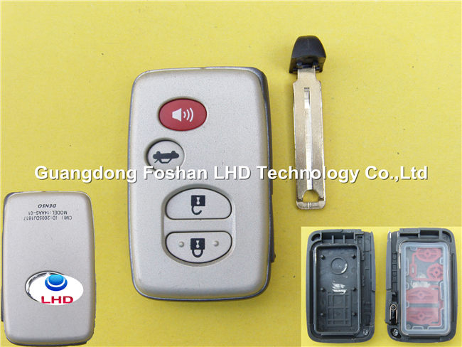 Excellent Quality Toyota smart car remote key 3+1 button key shell blank