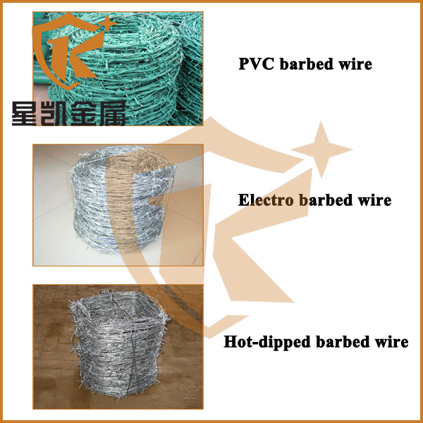 Hot dipped or electro galvanized barbed wire reel