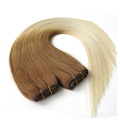 high quality two tone color brown to blonde brazilian remy hair extensions straight weft ombre