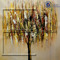 Wholesale Modern Canvas Abstract Tree Oil Painting Handmade of Flower Picture