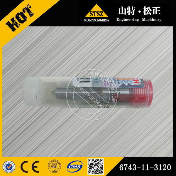 Excavator part of PC360-7 PC300-7 engine SAA6D114E diesel fuel injector nozzle 6743-11-3120