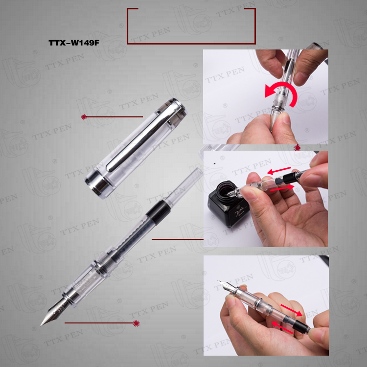 2018 Free Fountain Pen Sample Cheap Plastic Fountain Pen for Office