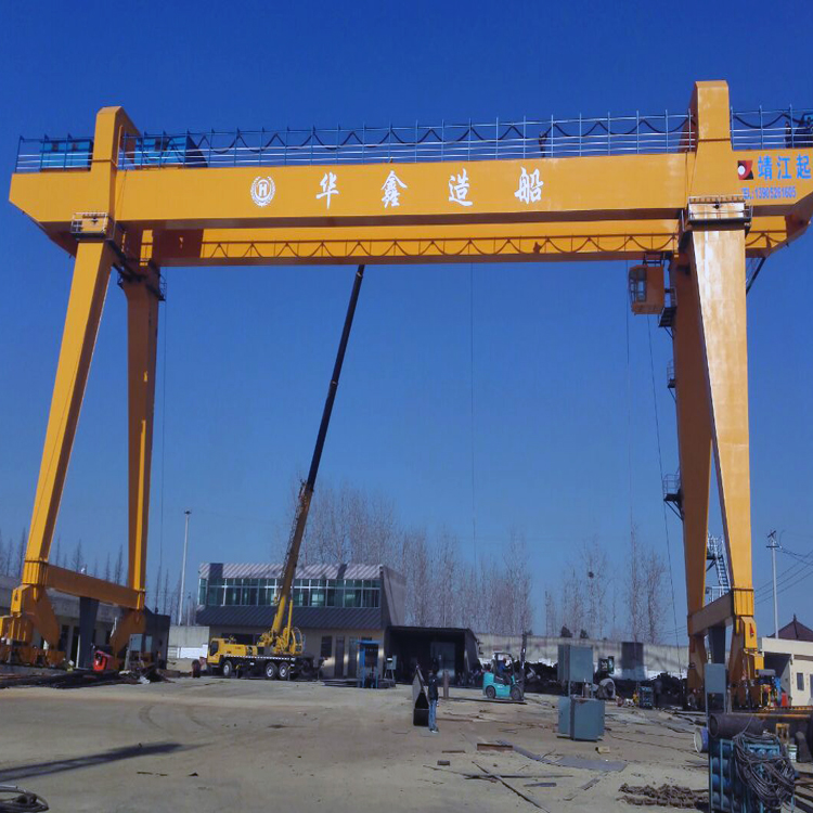 High quality best double beam box type shipyard portal gantry crane with electric winch price