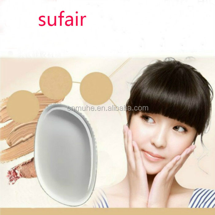 Malaysia transparent silicone cosmetic sponge puff/makeup blender