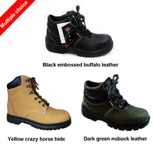 high-waisted buffalo leather crazy horse hide & Nubuck S1P safety shoes in thailand