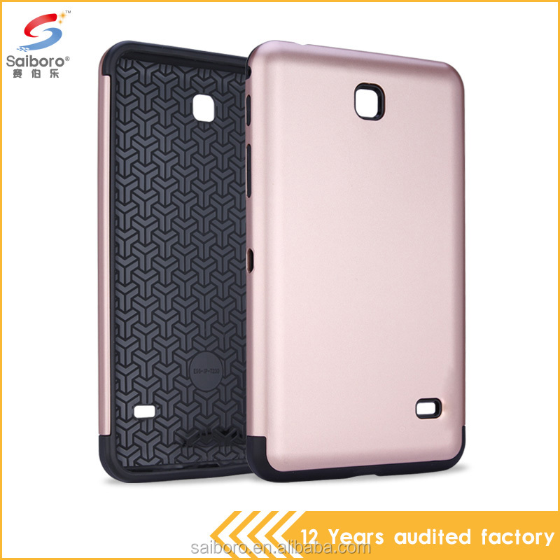 Online shopping tablet case for girls pc tpu hybrid protective case for Samsung Galaxy Tablet 4 7.0 T230