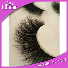 2016 Cosmetics false eyelashes 3D mink fur lashes mink strip eyelashes
