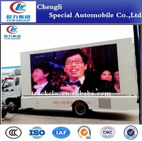FOTON large-size electric Led Screen Truck/Led Advertising truck for roadshow or platform speech and display