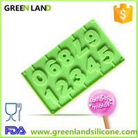 numbers and letters 3D shape silicone mold chocolate fudge birthday caked ecorating lollipop molds