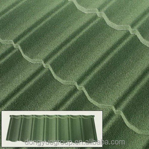 ridge hip stone coated roof tile/ seven wave roof sheet/stone coated steel roofing sheet
