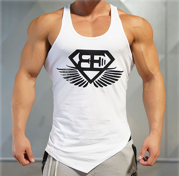 New Design Men Bodybuilding Tops Fitness Men's GYM Tank Tops