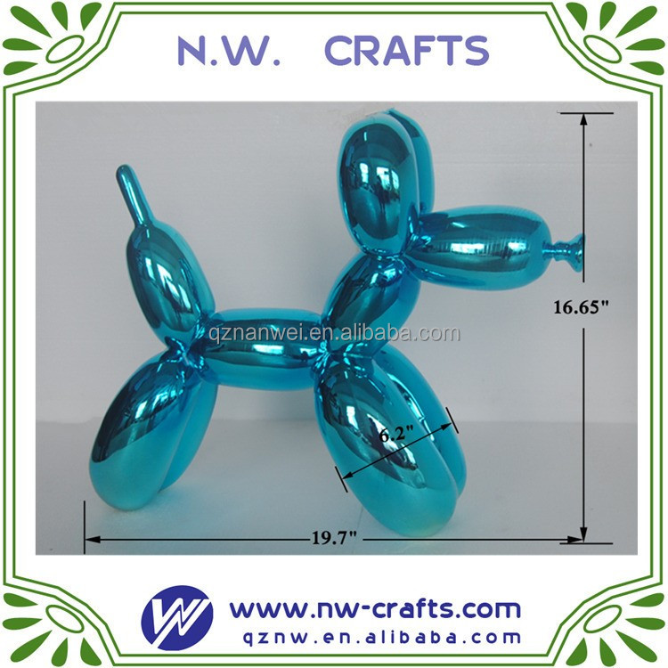 blue balloon dog resin abstract sculpture