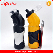 BPA free Bike Plastic Water Bottle with Cage/Holder from JoyShaker,One Hand Drinking Design
