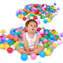 Colorful Fun Plastic Soft Balls Swim Toys Ocean Ball Pit for Play Tents Playhouses Kiddie Pools with assorted any pack