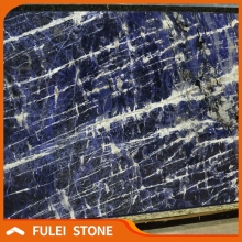 Top quality brazilian exotic sodalite blue granite stone slab