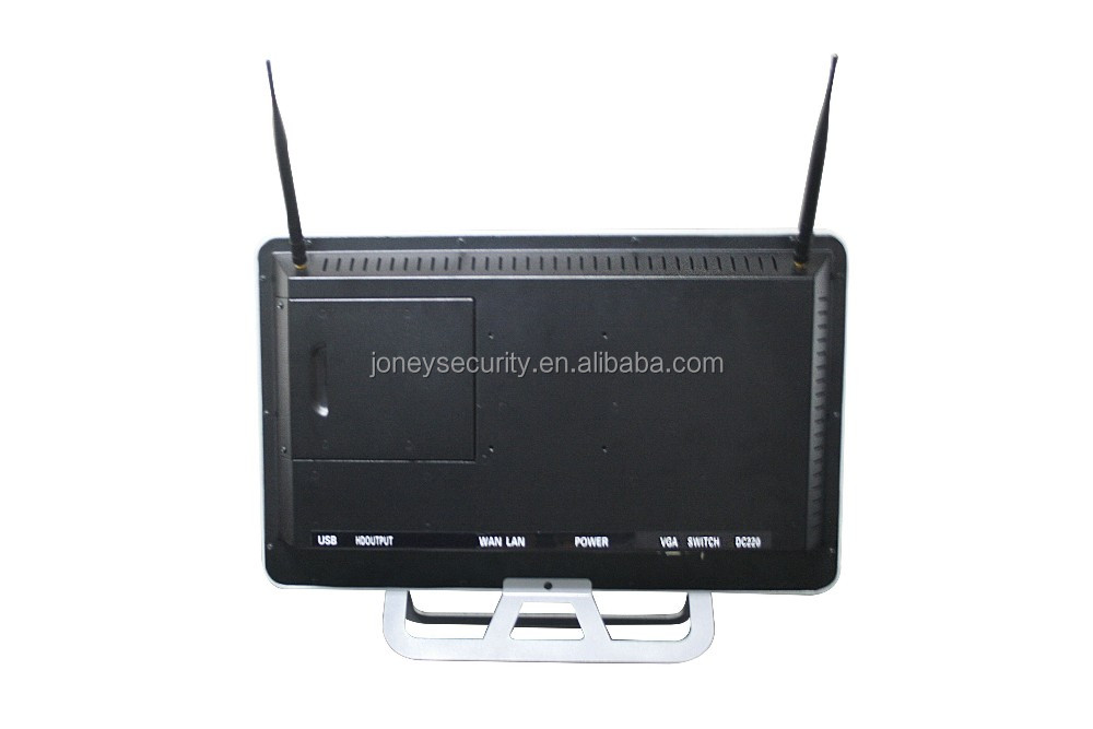 21.5 inch Monitor 1.3mp cctv H.264 wireless wifi NVR kit