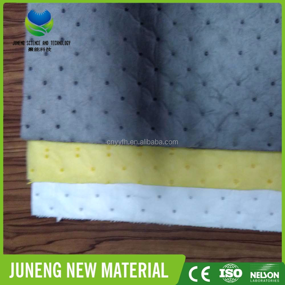 Customized Industrial Oil absorbent Pad/Emergency Oil Spill Response/100% PP fiber efficient Type Oil Spill Absorbent