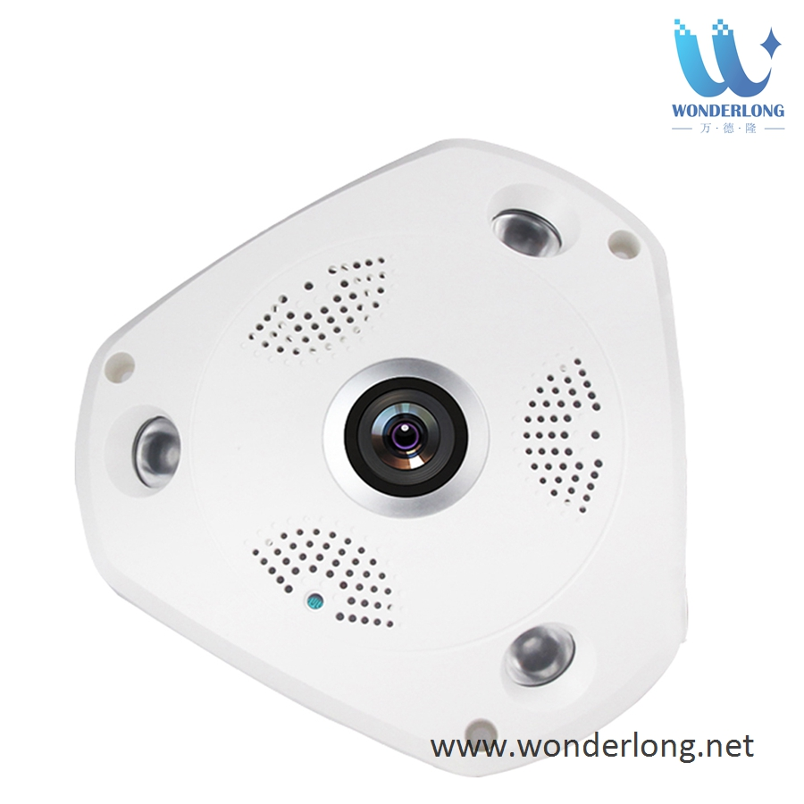Smart Home P2P 360 degree VR Fisheye CCTV PTZ Wireless IP fisheye camera