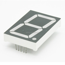 Single digit 1.5 inch dual color 7 segment led display common anode/cathode