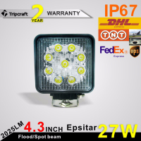 5 Inch Square 27W LED Work Light Bar for car 12 volt new 27w car led tuning light led work light for offroad vehicle
