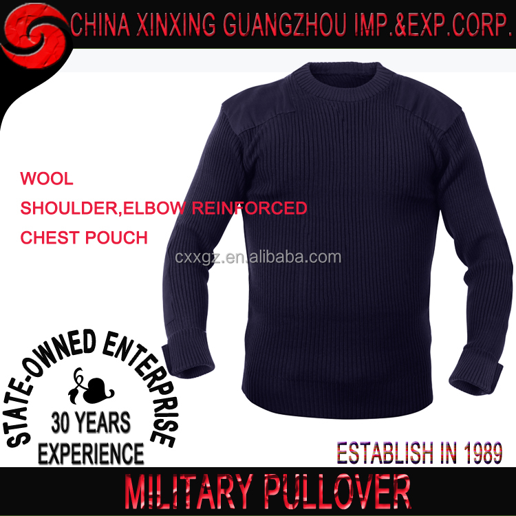 New Military Commando Pullover Security Crew Neck Army Navy Ribbed Sweater