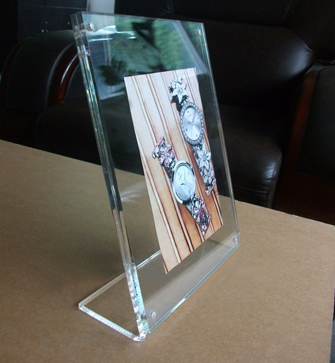 High transparency acrylic desktop photo frame / plexiglass A4 picture frame