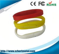 Fashion White Rubber Wristband 8GB USB 2.0 Flash Memory Drive(stick/pen/thumb)