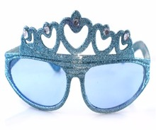 2017 party fancy sun glasses Queen Crown glitter party glasses
