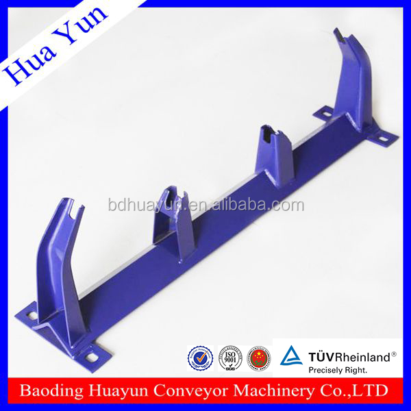 650mm belt width TD75 type automatic welding angle steel top roller bracket for support conveyor idler roller