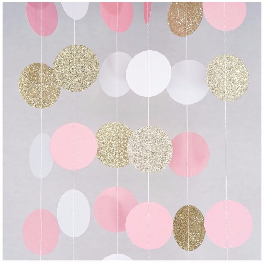 New Style Paper Garland Baby Shower Party Decoration Circle Garland DIY