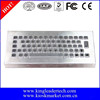 Small footprint desktop metal keyboard with 65 full-travel keys metal keyboard