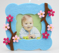 hot best selling new products custom beautiful flowers decor craft felt fabric love 3d digital picture photo frame wholesale