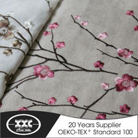 Delicate plum blossom embroidery insulated curtains
