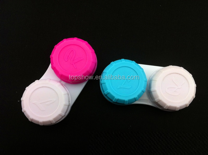 Contact Lens Storage Soaking Cases L+R Marked High Quality Cheap Contactlens Case Accessories Colored Lens