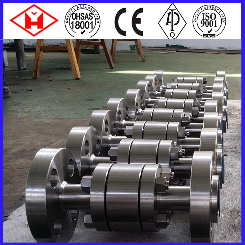 Beefy 3 Inch Stainless Steel Sulfuric Acid to 3 Cast Steel 300 Bar Ball Valve