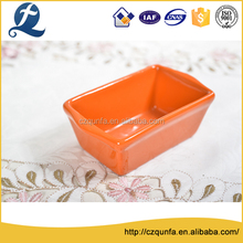 Square oven safe ceramic deepen cake loaf baking tray