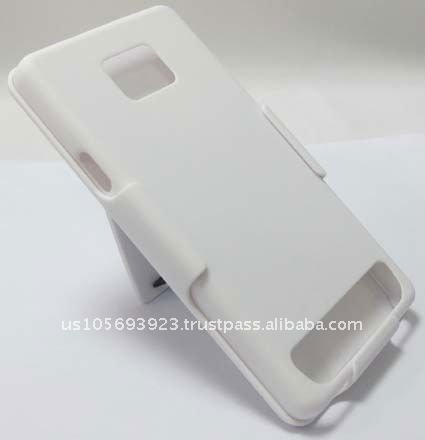 New for Samsung I9100 / Galaxy S II Shell Holster Combo + kickstand - White