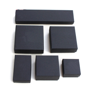 Small Luxury Matte Black Paper Jewelry Box Custom Paper Jewellery Box Black