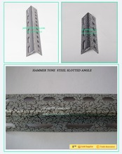 2015 NEW STYPE FASHIONAL and best selling warehouse HAMMER TONE steel slotted angle iron shelving system