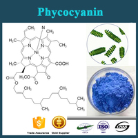 GMP ISO certificated blue color spirulina extract phycocyanin for anti cancer