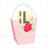 plastic flower gift shopping bags sleeve for retail packaging