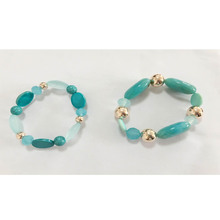 fashion accessories bracelets with semi-precious gemstone and fissure beads