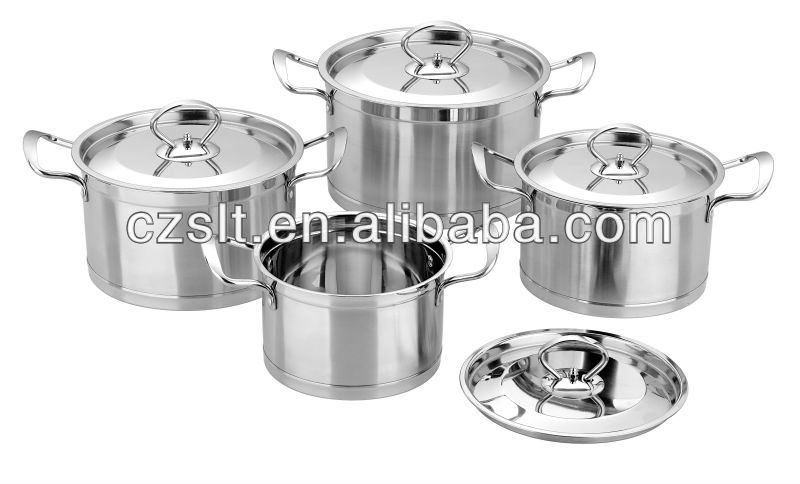8pcs Stainless Steel Cookware Casserole Sets