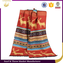 Wholesale Latest New Winter Fashion Silk Jacquard Christmas Scarf