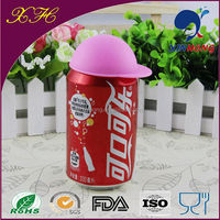 New Design Hat Shape Colorful Silicone Beer Bottle Opener Cap MFG-01