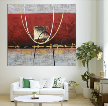Musical Instrument Handmade Oil Painting for Home decor