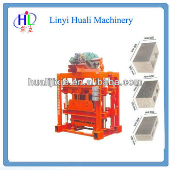 FOR family or small factory to do business! QT4-40 concrete block making machine/hollow cement block making machine